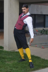 Malvolio presents his yellow stockings (Ethan Hall)